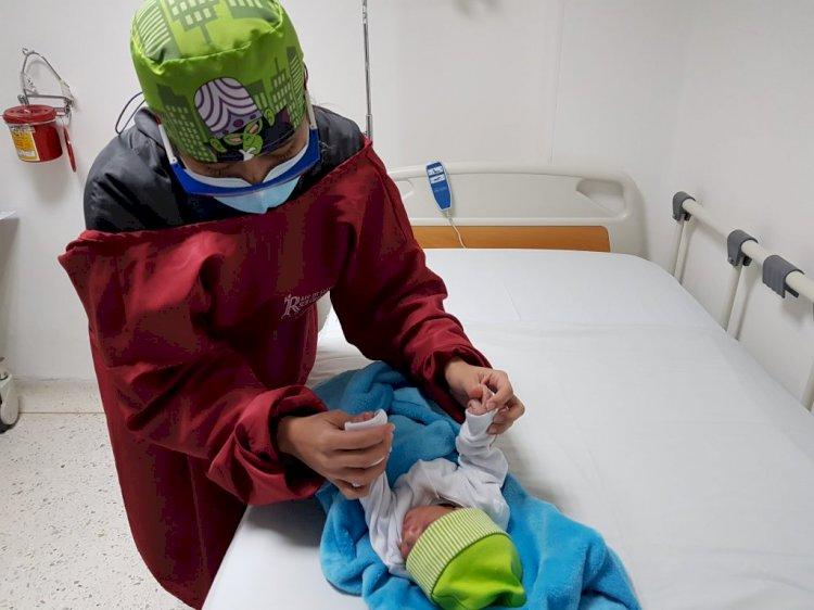 Ángel, el recién nacido abandonado, fue dado de alta por parte de la E.S.E Sur Oriente y entregado al ICBF.