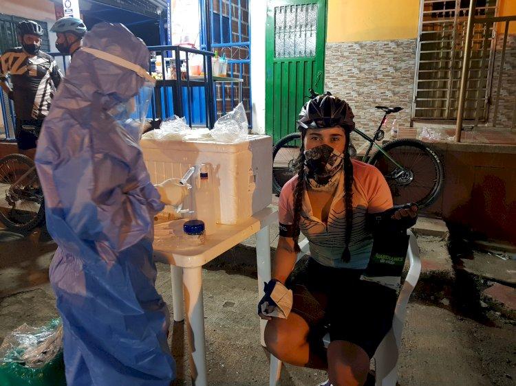 Pruebas PCR gratuitas para ciclistas realizó  la Red de Salud Suroriente